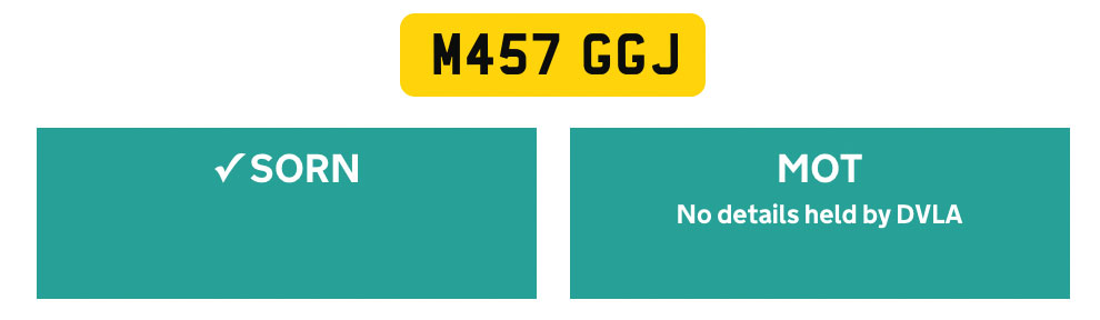 DVLA vehicle checker where your car has been SORNed
